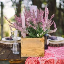 Heide - Kerze - Tischdeko - Franks kleiner Garten