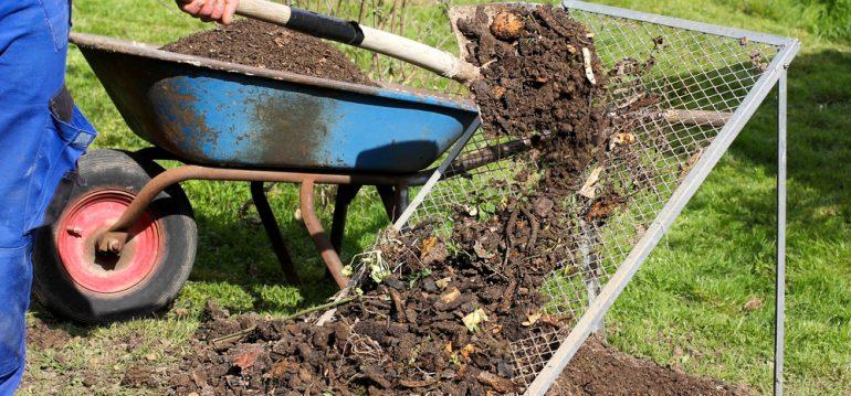 Februar - Kompost - Kompostsieb - Garten - Franks kleiner Garten