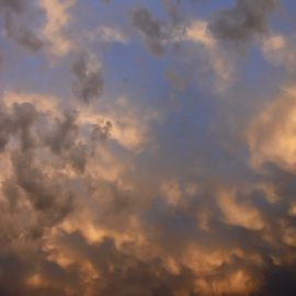 Himmel ueber Jesteburg - Abendrot - Wetterstation - Franks kleiner Garten