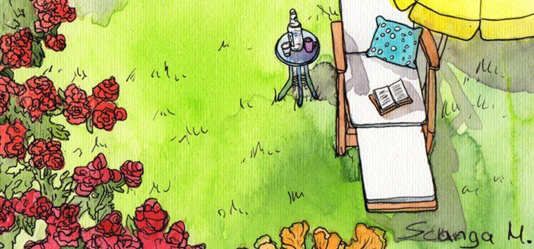 Juli - Garten - Illustration - Marco Scanga - Franks kleiner Garten