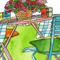 August - Illustration - Franks kleiner Garten