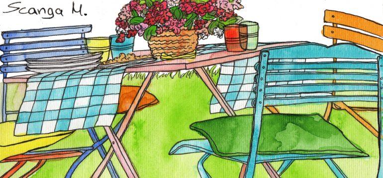 August - Illustration - Franks kleiner Garten