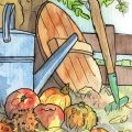 September - Illustration - Franks kleiner Garten