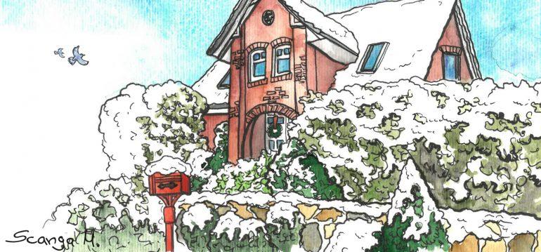 Dezember - Illustration - Franks kleiner Garten