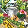 April - Illustration - Franks kleiner Garten