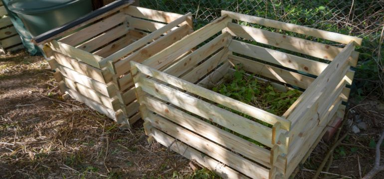 Kompost - Komposthaufen - Garten - Franks kleiner Garten