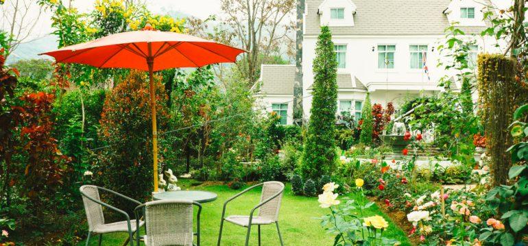 Mulchen - Rasen - Garten - Vorgarten - Franks kleiner Garten