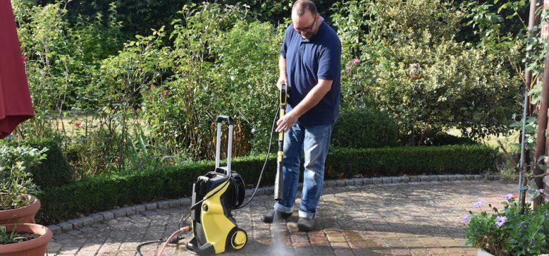 Kärcher - Terrasse - reinigen - Hochdruckreiniger - Franks kleiner Garten