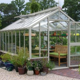 Gewächshaus - weiß - Hoklartherm - Franks kleiner Garten