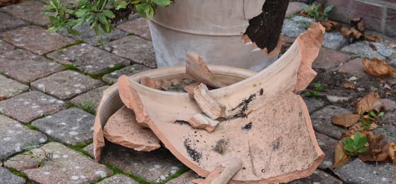 Nachhaltig Gärtnern - Tonscherben - Recycling - Franks kleiner Garten