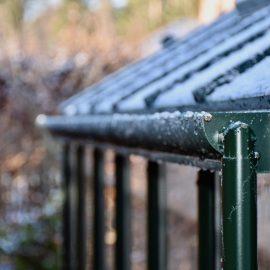Gewächshaus - Hoklartherm - Regenrinne mit Fallrohr - Franks kleiner Garten
