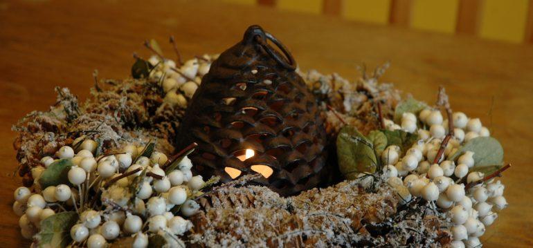 Windlicht - Tannenzapfen - groß - Weihnachten - Geschenkidee - Tipps - Franks kleiner Garten