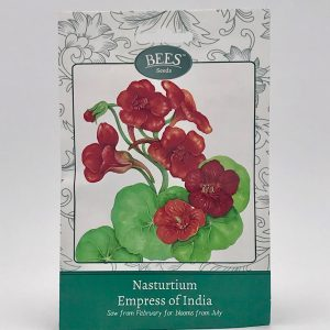 Kapuzinerkresse - Empress of India - Saatgut - Samen - Samentütchen - BEES Seeds - Franks kleiner Garten