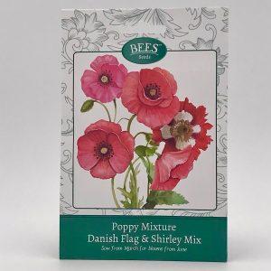 Mohnblume - Danish Flag - Samentütchen - Saatgut - BEES Seeds - Franks kleiner Garten