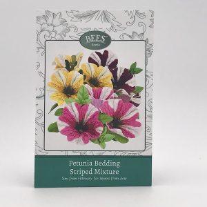 Petunien - Gestreifte Mischung - BEES Seeds - Samentütchen - Franks kleiner Garten