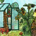 September - Illustration - Gewächshaus - Hoklartherm - Franks kleiner Garten