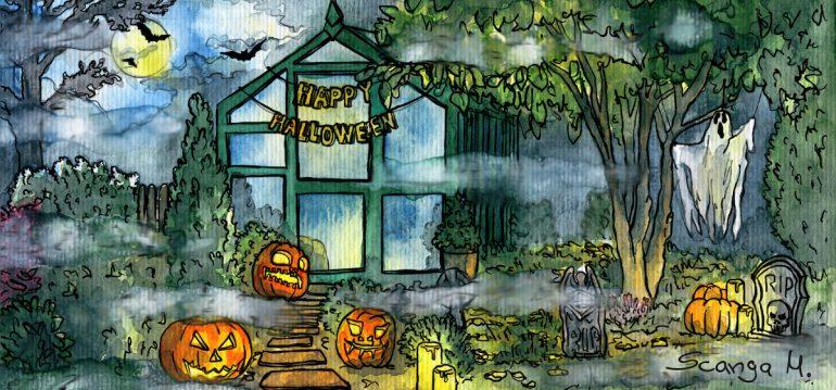 Gewächshaus - Hoklartherm - Halloween - Oktober - Franks kleiner Garten