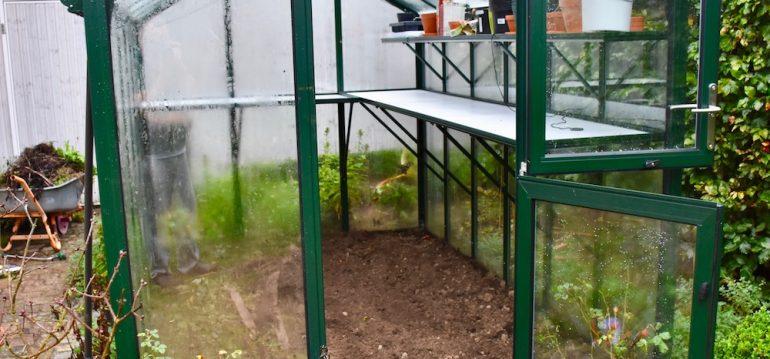 Hoklartherm - Gewächshaus - Oktober - Ausgeräumt - Herbst - Franks kleiner Garten