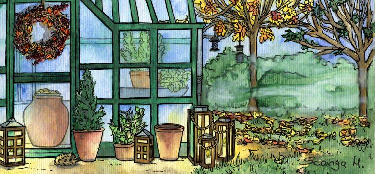 Gewächshaus - Hoklartherm - November - Windlichter - Herbst - Franks kleiner Garten