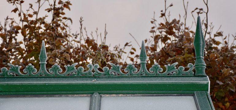 Gewächshaus - Hoklartherm - Zierleiste - November - Frost - Herbst - Franks kleiner Garten