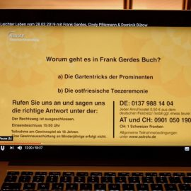 AstroTV - Quiz - Berlib - März 2019 - Stars in gummistiefeln - Franks kleiner Garten