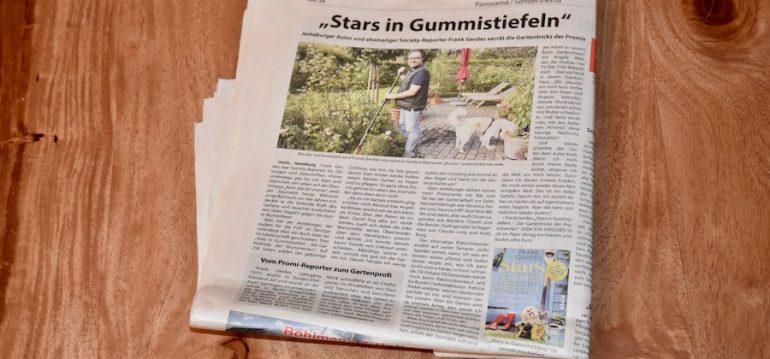 Buchbesprechung - Portrait - Wochenblatt Nordheide - Stars in Gummistiefeln - März 2019 - Franks kleiner Garten