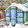 Januar - Illustration - Gewächshaus - Marco Scanga - Franks kleiner Garten