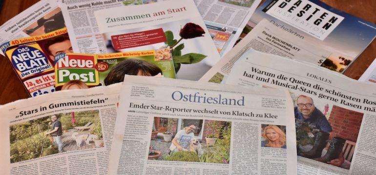 Zeitungsartikel - Stars in Gummistiefeln - Buch - Franks kleiner Garten