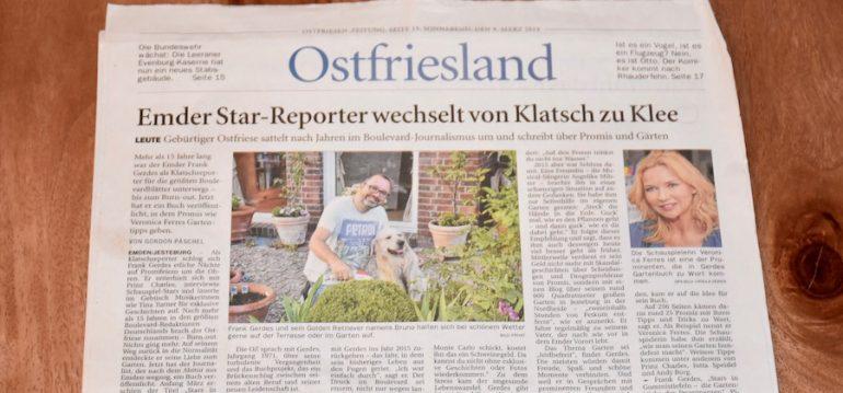 Zeitungsbericht - Ostfriesenzeitung - Stars in Gummistiefeln - Franks kleiner Garten