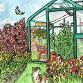 Gewächshaus - Februar - Illustration - Tulpen - Frühling - Franks kleiner Garten