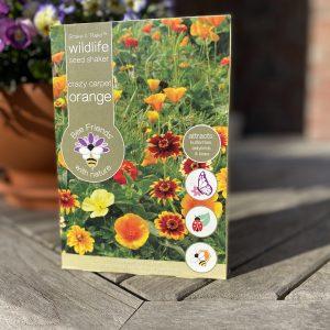 Saatgut - Saatgut-Shaker - Blumensamen - Nützlinge - crazy carpet orange- wildlife - Cover - Shop - Franks kleiner Garten