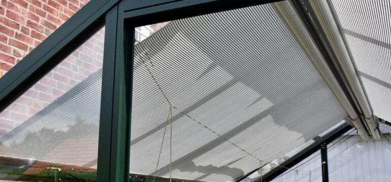 Gewächshaus - Juni - Schattierung - Innenschattierung - Franks kleiner Garten