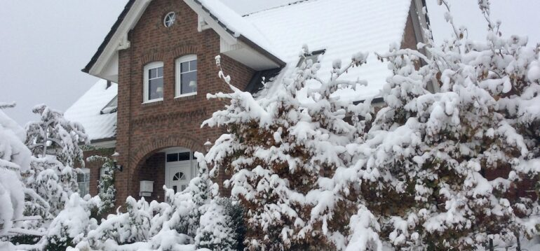 Winter - Schnee - Haus - Vorgarten - Januar - Franks kleiner Garten